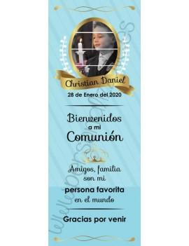 Xbanner Comunión Cielo personalizado 1,60mx60cm