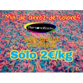 Arroz de colores mix por kilos