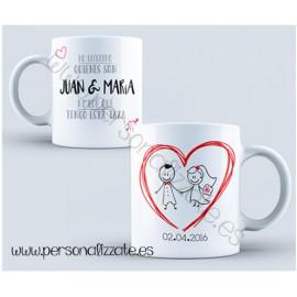 "Taza personalizada ""Heart"""
