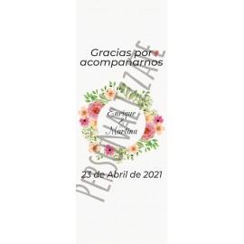 Flower colors Cartel impreso en cartón 4mm de 160x60 cm
