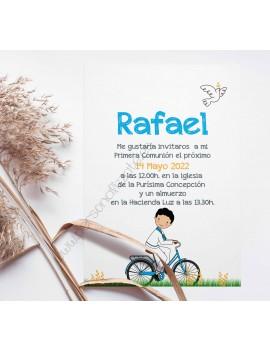 Invitación Comunión Bicicleta