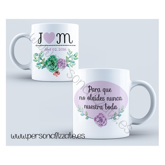 "Taza personalizada ""Flower"""