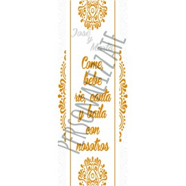Mandala Cartel impreso en cartón 4mm de 160x60 cm