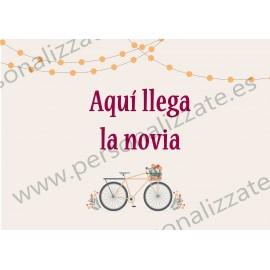 Cartel indicativo bicycle