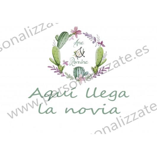 Cartel indicativo cactus