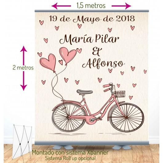Photocall   2x1,5m   Bicycke con soporte