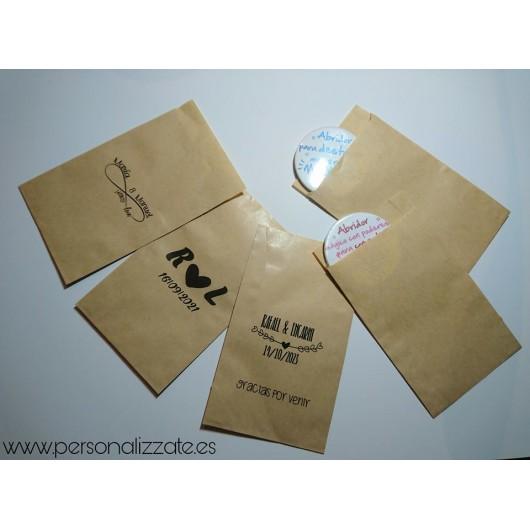 Sobre papel Kraft impreso 85x132