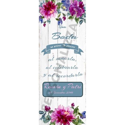 Xbanner waterflower personalizado 1,60mx60cm