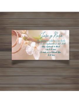 Invitación almond