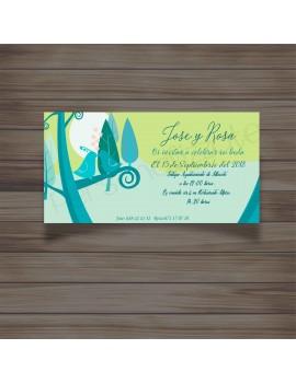Invitación bluebird
