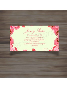 Invitación Pinkrose