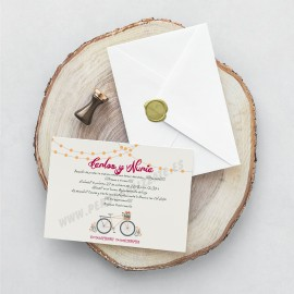 Invitación De Boda Bicycle