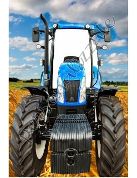 Photocall de Tractor azul