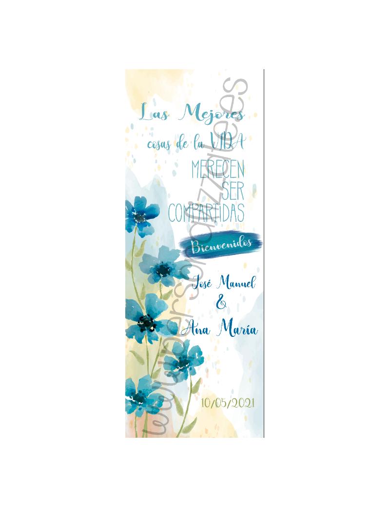 Xbanner Flowerblue personalizado 1,60mx60cm