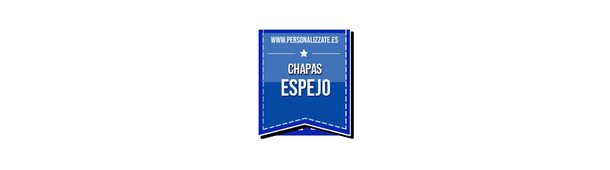 Chapa espejo para campañas publicitarias o detalles de boda
